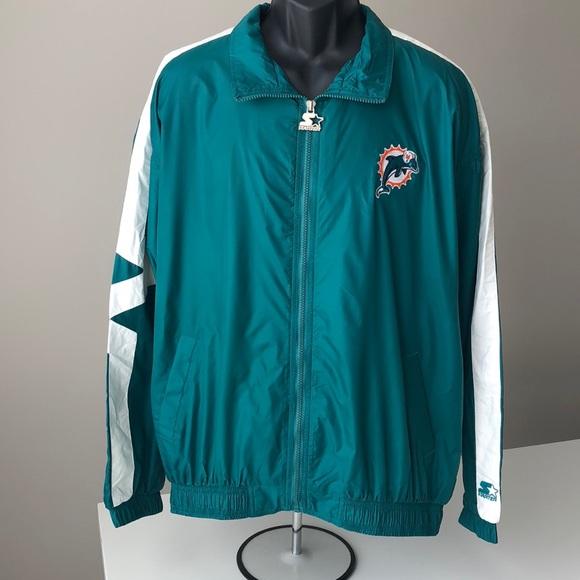 5d7f2c59 Vintage Starter Miami Dolphins Windbreaker Jacket